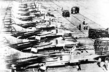 Airplane Picture - Line of Cuban MiG-23s.