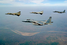 Airplane Picture - Indian MiG-27 & USAF F-15.