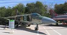 Airplane Picture - Captured MiG-23 on display in Israel