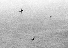 Airplane Picture - MiG-15s curving in to attack USAF B-29s, 1951.