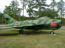 Airplane Picture - A North Vietnamese MiG-17 on display at the Mighty Eighth Air Force Museum.
