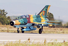 Airplane Picture - Romanian Air Force MiG-21 UM LanceR-B