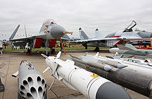 Airplane Picture - A MiG-29K and its armaments at MAKS