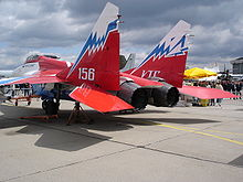 Airplane Picture - MiG-29OVT on display