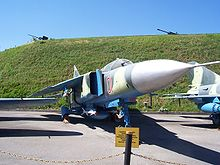 Airplane Picture - Ukrainian MiG-23 on display at the Museum of the Great Patriotic War, Kiev