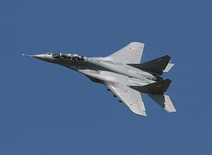 Warbird Picture - A Hungarian Air Force MiG-29UB at Koksijde Airshow in 2005