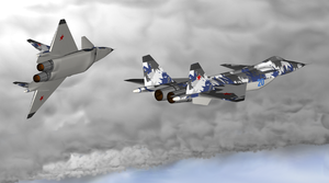 Warbird Picture - An artist's conception of the MiG 1.44 technology demonstrator with delta wing design