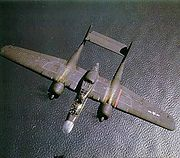 Warbird picture - Airplane picture - The P-61's upper turret is visible on the fuselage between the wings.