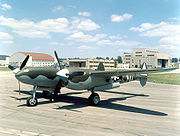 Airplane Pictures - Lockheed P-38L Lightning at the National Museum of the United States Air Force, marked as a P-38J of the 55th Fighter Squadron, based in England
