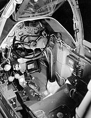 Airplane Pictures - Cockpit view of a P-38G. Note the yoke, rather than the more-usual stick