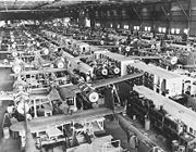 Airplane Pictures - Mechanized P-38 conveyor lines