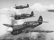 Airplane Pictures - Top to Bottom: P-40 F/L, P-40K Warhawk