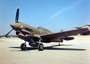 Airplane Pictures - Hawk 87A-3/Kittyhawk IA, s/n AK987, in American Volunteer Group (Flying Tigers) paint scheme