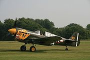 Airplane Pictures - P-40K 42-10256 in Aleutian Tiger markings