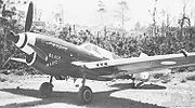 Airplane Pictures - P-40N-15 Black Magic, No. 78 Squadron RAAF. F/L Denis Baker scored the RAAF's last aerial victory over New Guinea in this fighter on 10 June 1944. It was later flown by W/O Len Waters. Note the dark blue tip on the tailfin used to identify 78 Squadron.