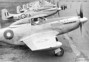 Airplane Pictures - Australian P-51Ds of 82 Squadron RAAF in Bofu, Japan as part of the British Commonwealth Occupation Force, in 1947