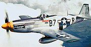 Airplane Pictures - Lt. Vernon R Richards, 374th FS, 361st FG. Early production P-51D-5-NA without tail fillet
