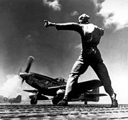 Airplane Pictures - P-51 Mustang takes off from Iwo Jima