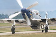 Airplane Pictures - One of many P-51D Mustangs at Oshkosh 2005, in the livery of the 352nd Fighter Group, RAF Bodney, UK