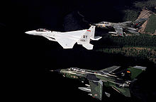 Airplane Picture - A formation including a USAF F-15C, West German Tornado and RAF Tornado