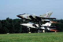 Airplane Picture - Formation take-off of a RAF Tornado GR.1 and a Tornado F.2 prototype