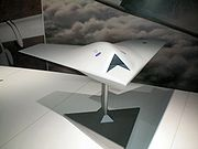 Airplane picture - Model of the BAE Taranis stealth unmanned combat aerial vehicle