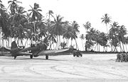 Airplane Pictures - A-24B taxiing at Makin Island