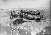 Airplane Pictures - Spitfires of 352(Yugoslav) Squadron RAF (Balkan Air Force) before first mission on 18 August 1944, from Canne airfield