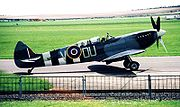 Airplane Pictures - ML407 The Grace Spitfire, Duxford 2001. An ex 485(NZ) Squadron Spitfire LF Mk IX which operated over the beach-head on D-Day