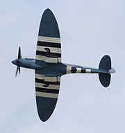 Airplane Pictures - The elliptical planform of a Spitfire Mk XIX, seen at a British air show in 2008