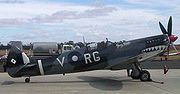 Airplane Pictures - The Spitfire Mk VIII Grey Nurse which saw action with No. 457 Squadron RAAF in the South West Pacific Area is one of two Spitfires still flying in Australia, both owned by Temora Aviation Museum