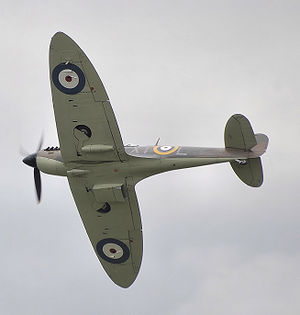 Airplane Pictures - The distinctive silhouette of a typical Spitfire shows elliptical wings. (P7350, a Mk IIa, was first delivered to 266 Squadron on 6 September 1940.)