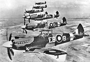 Airplane Pictures - Spitfire LF Mk XIIs of 41 Squadron in mid-1943