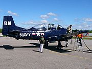 Airplane Pictures - Canadian civil T-28B refuelling