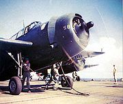Airplane Pictures - TBF Avenger ready for catapult launch