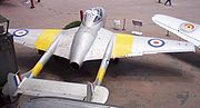 Warbird picture - T 11 two-seat Vampire trainer.