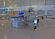 Warbird picture - de Havilland Vampire built under license for the Swiss Air Force in 1969 as an FB-6 painted as an F 3 in RCAF service (Canadian Warplane Heritage Museum).