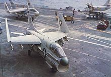 Airplane Picture - A-7Bs of CVW-16 on the USS Ticonderoga in 1968