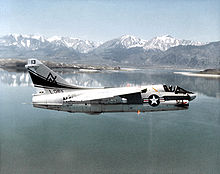 Airplane Picture - An A-7B Corsair II aircraft from Naval Air Reserve Attack Squadron 305 (VA-305)