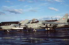 Airplane Picture - EA-7L of VAQ-34 in 1987