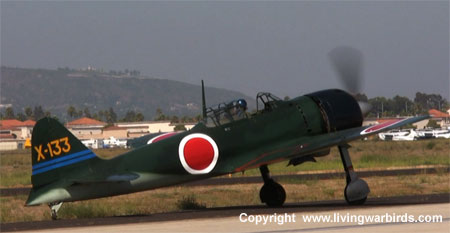 Airplane Pictures - Living Warbirds: Mitsubishi A6M3 Zero - Living Warbirds, vintage airplanes, free warbird videos, download Living Warbirds DVD, world war ii