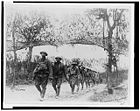 African-American soldiers marching in France