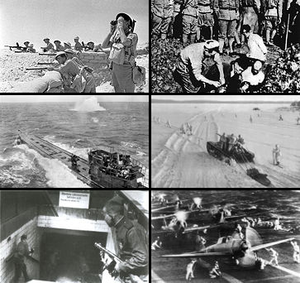 Airplane Pictures - Clockwise from top left: Commonwealth troops in the desert; Chinese civilians being buried alive by Japanese soldiers; Soviet forces during a winter offensive; Carrier-borne Japanese planes readying for take off; Soviet troops fighting in Berlin; A German submarine under attack.