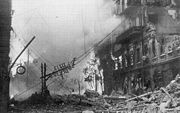 Airplane Pictures - Khreshchatyk, the main street of Kiev, after German bombardment