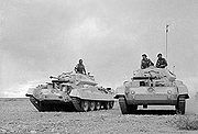 Airplane Pictures - British Crusader tanks moving to forward positions during the North Africa Campaign.