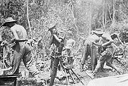 Airplane Pictures - British troops firing a mortar during the Battle of Imphal.