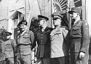 Airplane Pictures - The Supreme Commanders on June 5, 1945 in Berlin: Bernard Montgomery, Dwight D. Eisenhower, Georgy Zhukov and Jean de Lattre de Tassigny.