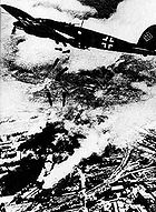 Airplane Pictures - German Heinkel He 111 planes bombing Warsaw in 1939