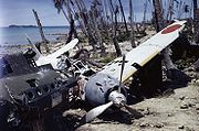 Airplane Pictures - Mitsubishi A6M3 Zero wreck abandoned at Munda Airfield, Central Solomons, 1943